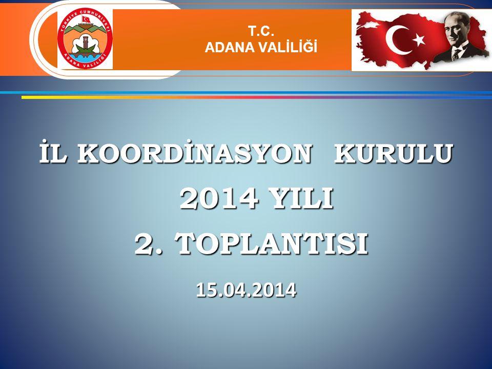 İL KOORDİNASYON KURULU 2014 YILI 2014 YILI 2. TOPLANTISI 2.