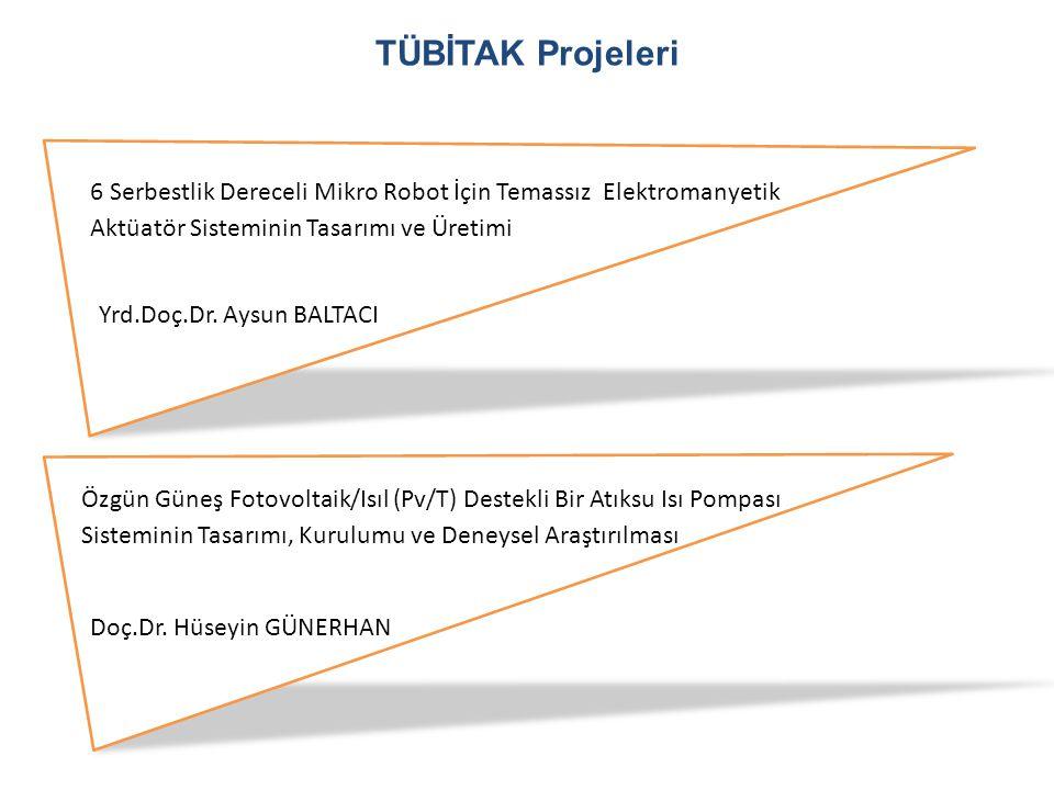 TÜBİTAK Projeleri 6 Serbestlik Dereceli Mikro Robot İçin Temassız Elektromanyetik Aktüatör Sisteminin Tasarımı ve Üretimi Yrd.Doç.Dr. Aysun BALTACI Öz