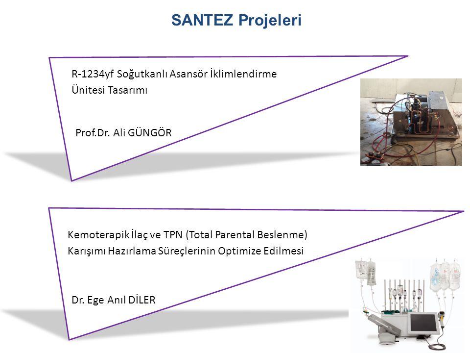 SANTEZ Projeleri R-1234yf Soğutkanlı Asansör İklimlendirme Ünitesi Tasarımı Prof.Dr. Ali GÜNGÖR Dr. Ege Anıl DİLER Kemoterapik İlaç ve TPN (Total Pare