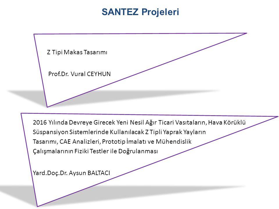 SANTEZ Projeleri 2016 Yılında Devreye Girecek Yeni Nesil Ağır Ticari Vasıtaların, Hava Körüklü Süspansiyon Sistemlerinde Kullanılacak Z Tipli Yaprak Y
