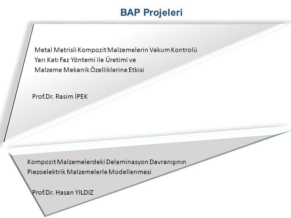 BAP Projeleri Metal Matrisli Kompozit Malzemelerin Vakum Kontrolü Yarı Katı Faz Yöntemi ile Üretimi ve Malzeme Mekanik Özelliklerine Etkisi Kompozit M