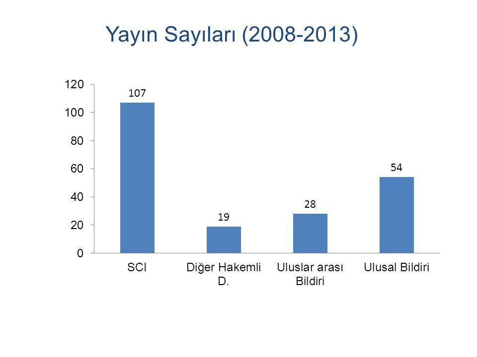 Yayın Sayıları (2008-2013)