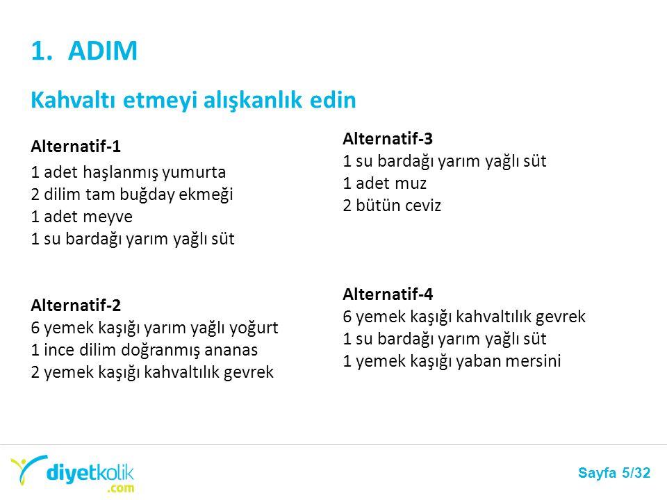 ADIM-2 Her öğünden 10-15 dakika önce en az 1 bardak su iç