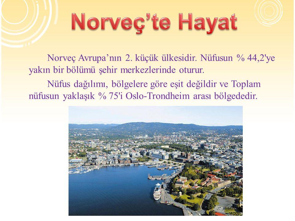 Norveç Avrupa'nın 2.küçük ülkesidir.