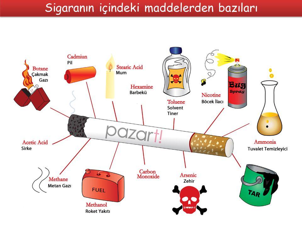 Sigaranın içindeki maddelerden bazıları