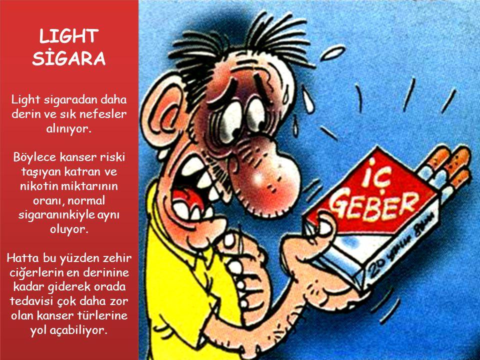 LİGHT SİGARA LIGHT SİGARA Light sigaradan daha derin ve sık nefesler alınıyor.