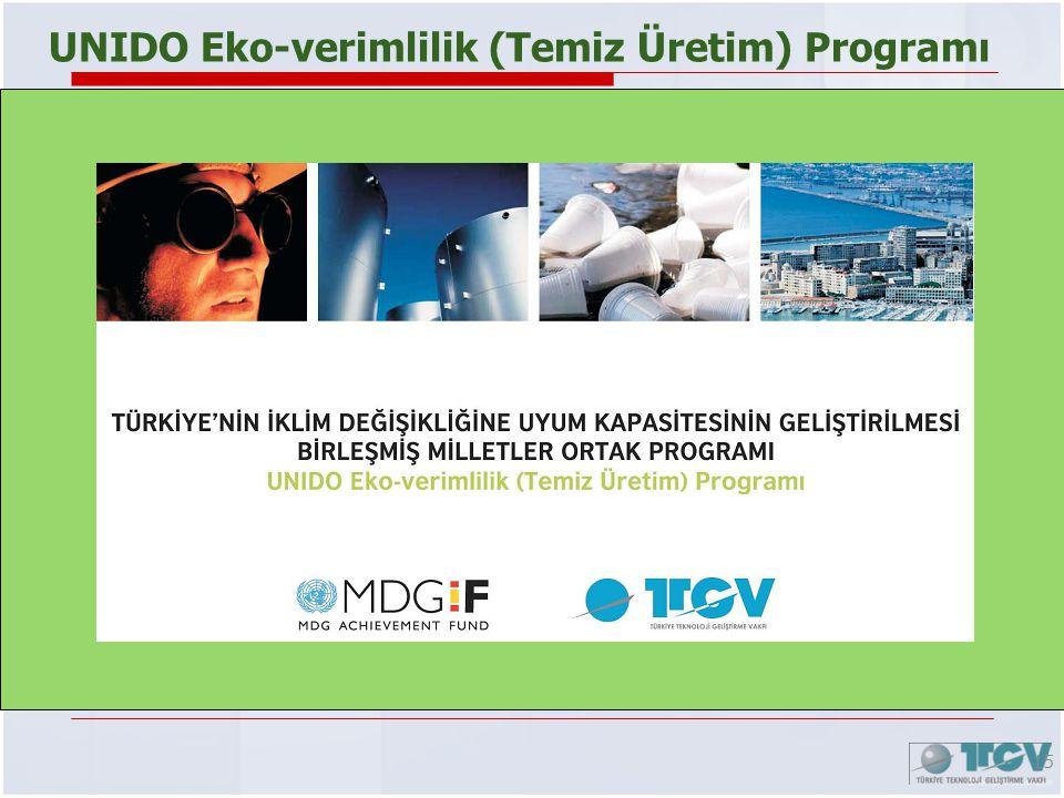 15 UNIDO Eko-verimlilik (Temiz Üretim) Programı