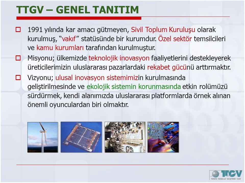 """TTGV – GENEL TANITIM  1991 yılında kar amacı gütmeyen, Sivil Toplum Kuruluşu olarak kurulmuş, """"vakıf"""" statüsünde bir kurumdur. Özel sektör temsilcile"""