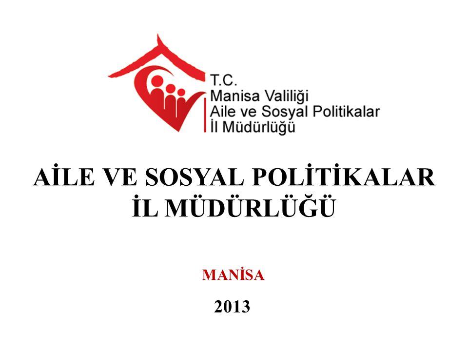 2013 AİLE VE SOSYAL POLİTİKALAR İL MÜDÜRLÜĞÜ MANİSA
