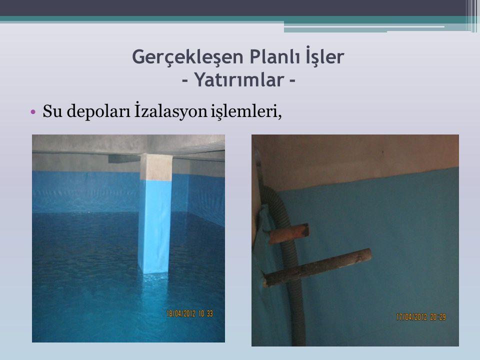 Gerçekleşen Planlı İşler - Yatırımlar - •Dış Cepheden su alan bölgelerin bakım ve tamiratı yapıldı.