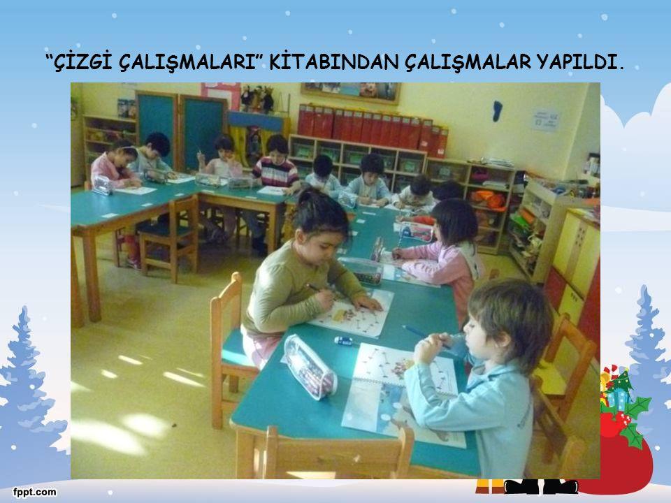 """""""ÇİZGİ ÇALIŞMALARI"""" KİTABINDAN ÇALIŞMALAR YAPILDI."""