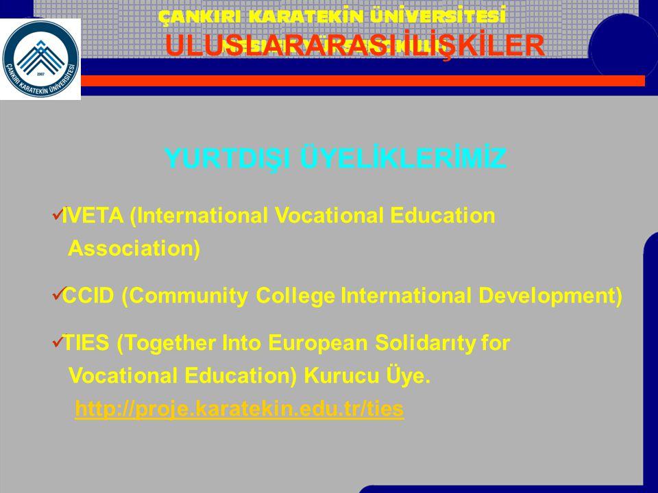  IVETA (International Vocational Education Association)  CCID (Community College International Development)  TIES (Together Into European Solidarıt