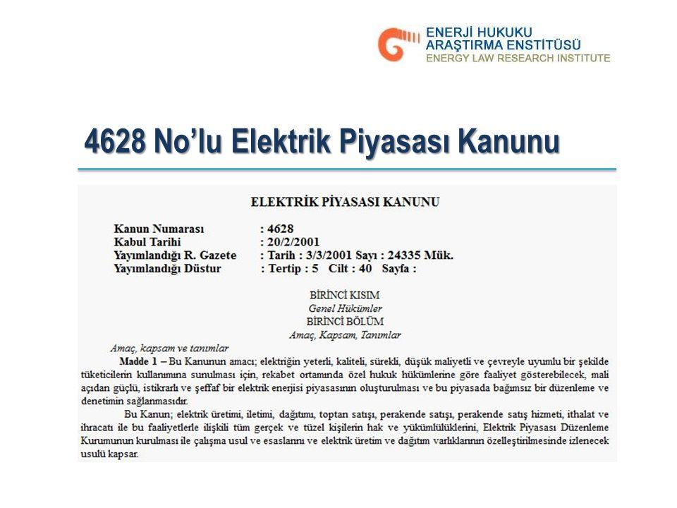 4628 No'lu Elektrik Piyasası Kanunu