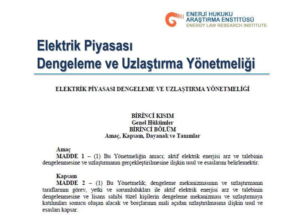 Elektrik Piyasası Dengeleme ve Uzlaştırma Yönetmeliği 10.03.7017, Cumartesi The Plaza Otel - İstanbul