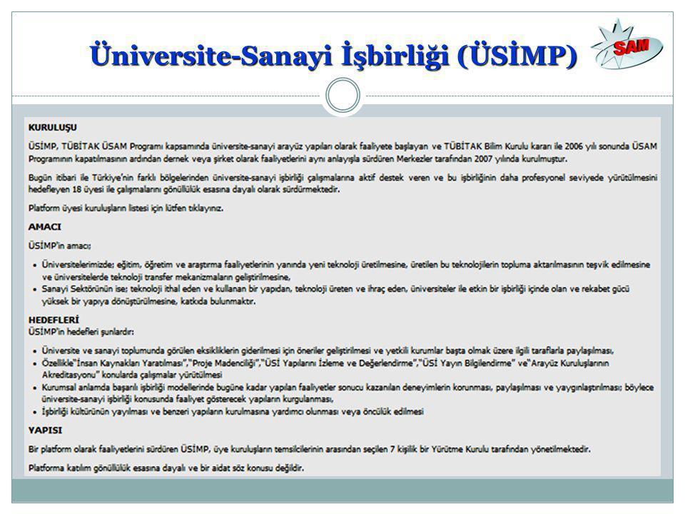 Üniversite-Sanayi İşbirliği (ÜSİMP)