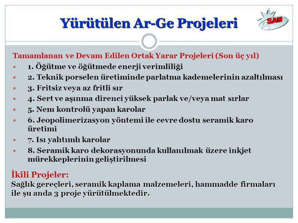 Tamamlanan ve Devam Edilen Ortak Yarar Projeleri (Son üç yıl)  1.
