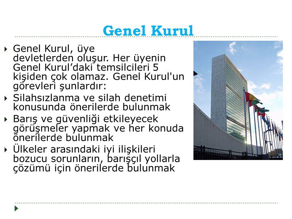 Genel Kurul  Genel Kurul, üye devletlerden oluşur.
