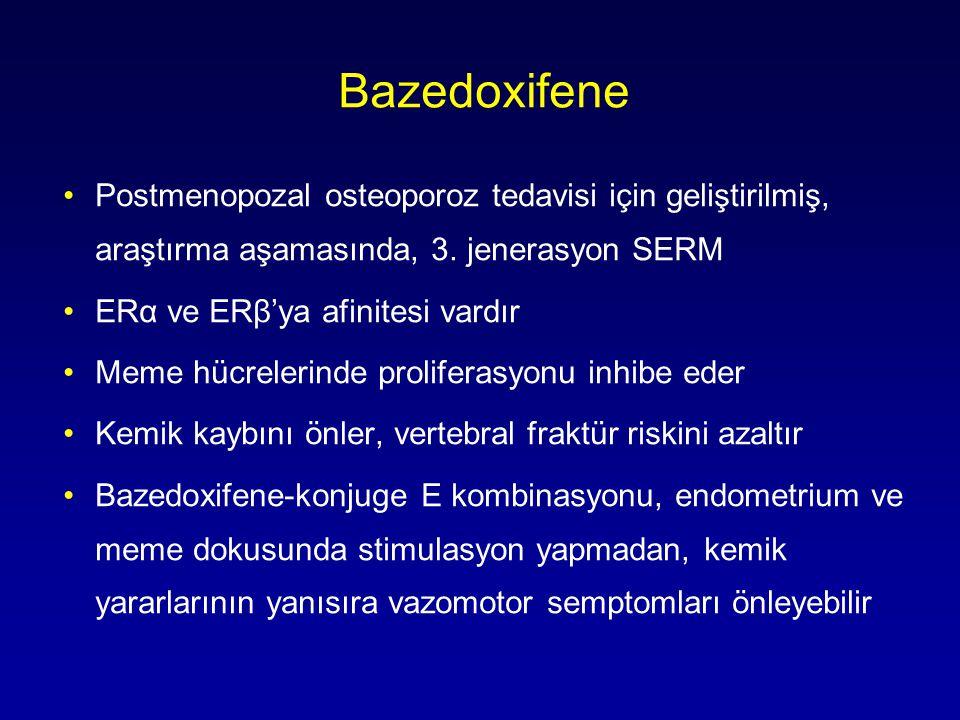 Bazedoxifene •Postmenopozal osteoporoz tedavisi için geliştirilmiş, araştırma aşamasında, 3.