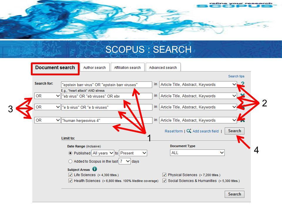 1 2 3 4 SCOPUS : SEARCH