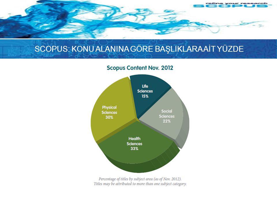 Sonuçları İnceleme Scopus sonuçları beş tür kaynaktan getirir: Scopus – hakemli dergilerden sonuçlar Daha fazlası – Referans listelerinden sonuçlar Web – Scirus www.info.scirus.