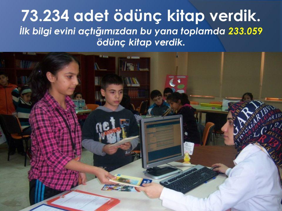 İlk bilgi evini açtığımızdan bu yana toplamda 233.059 ödünç kitap verdik.