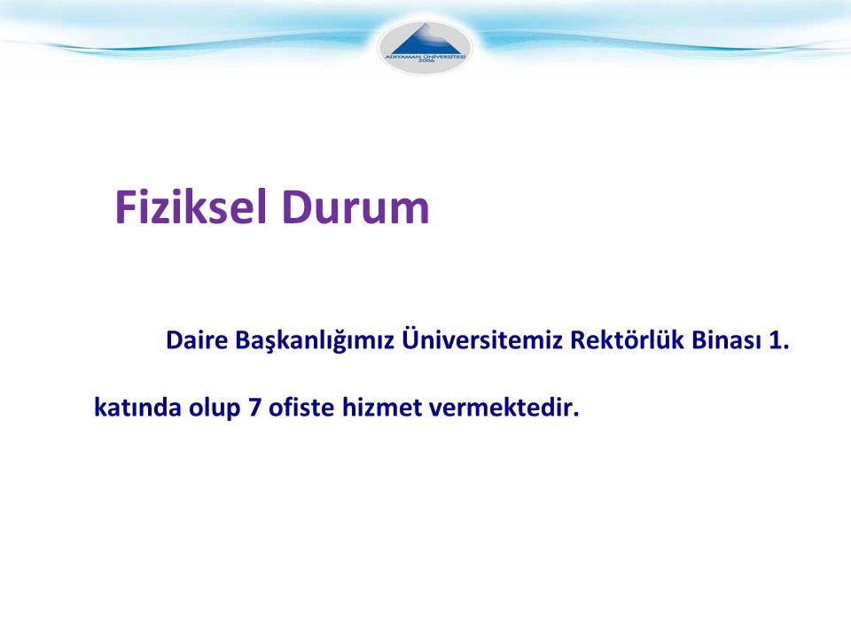 Fiziksel Durum Daire Başkanlığımız Üniversitemiz Rektörlük Binası 1.