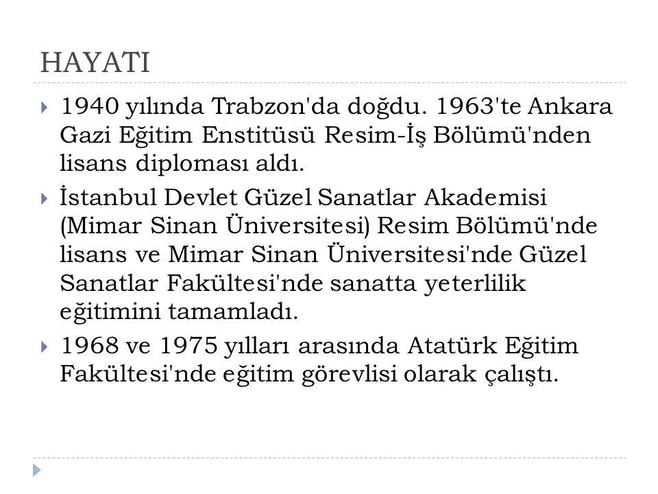 HAYATI  1940 yılında Trabzon da doğdu.