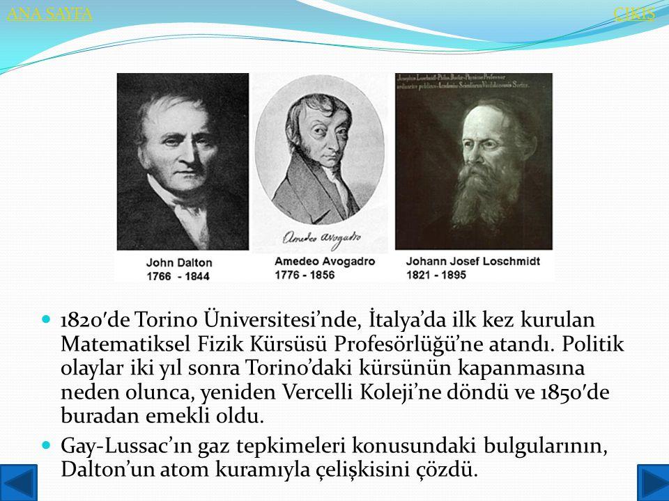  1820 ′ de Torino Üniversitesi'nde, İtalya'da ilk kez kurulan Matematiksel Fizik Kürsüsü Profesörlüğü'ne atandı. Politik olaylar iki yıl sonra Torino