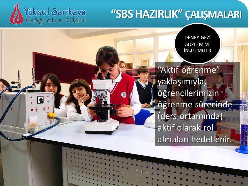 SBS HAZIRLIK ÇALIŞMALARI DEĞERLENDİRME YIL SONU KARNESİ M.E.B.