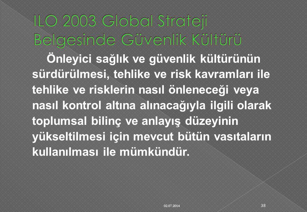 Önleyici sağlık ve güvenlik kültürünün sürdürülmesi, tehlike ve risk kavramları ile tehlike ve risklerin nasıl önleneceği veya nasıl kontrol altına al