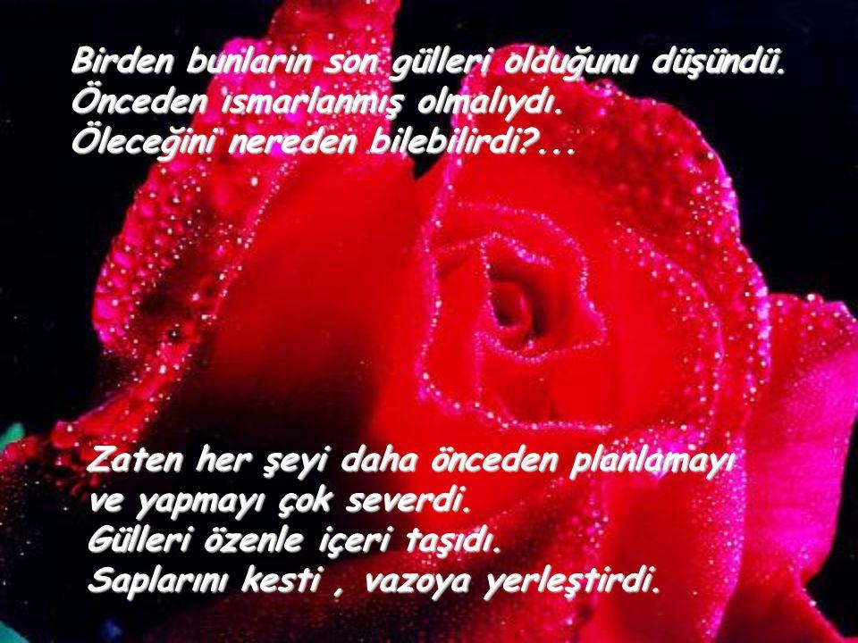 Hatta, eşini kaybettiği yıl dahi kapısı çalınmış gülleri kucağına bırakılmıştı, Küçük bir kartla birlikte;
