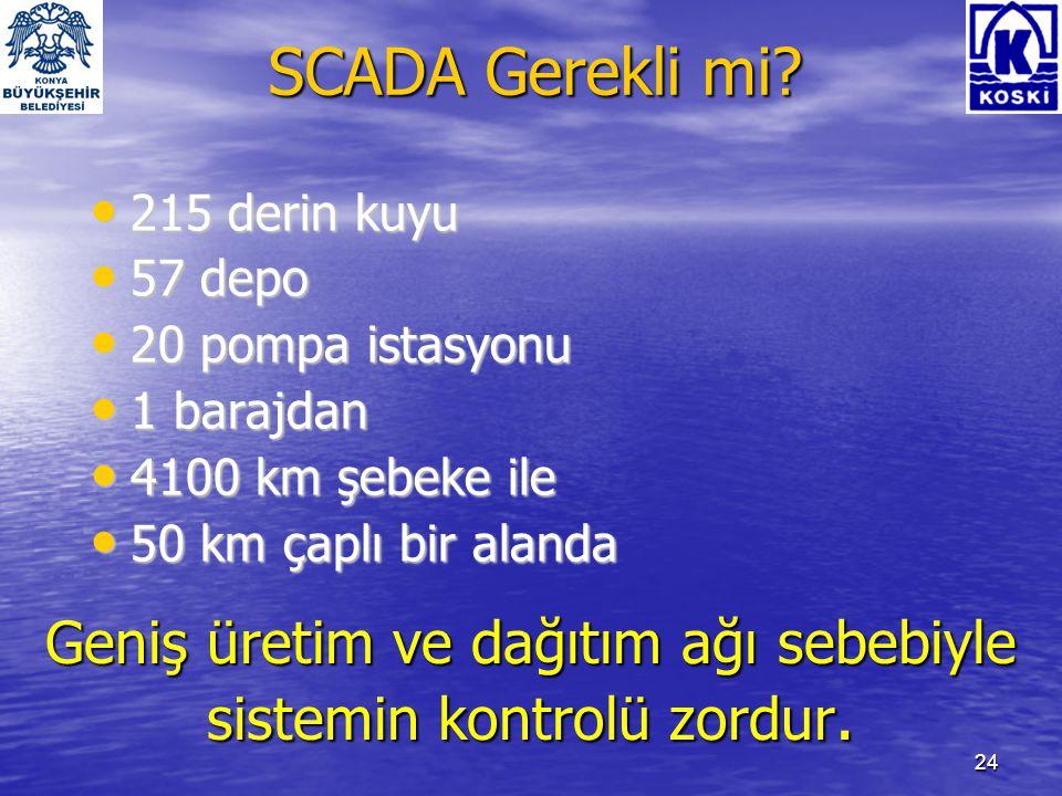 25 SCADA'dan beklenen faydalar • İşgücünde maksimum fayda.