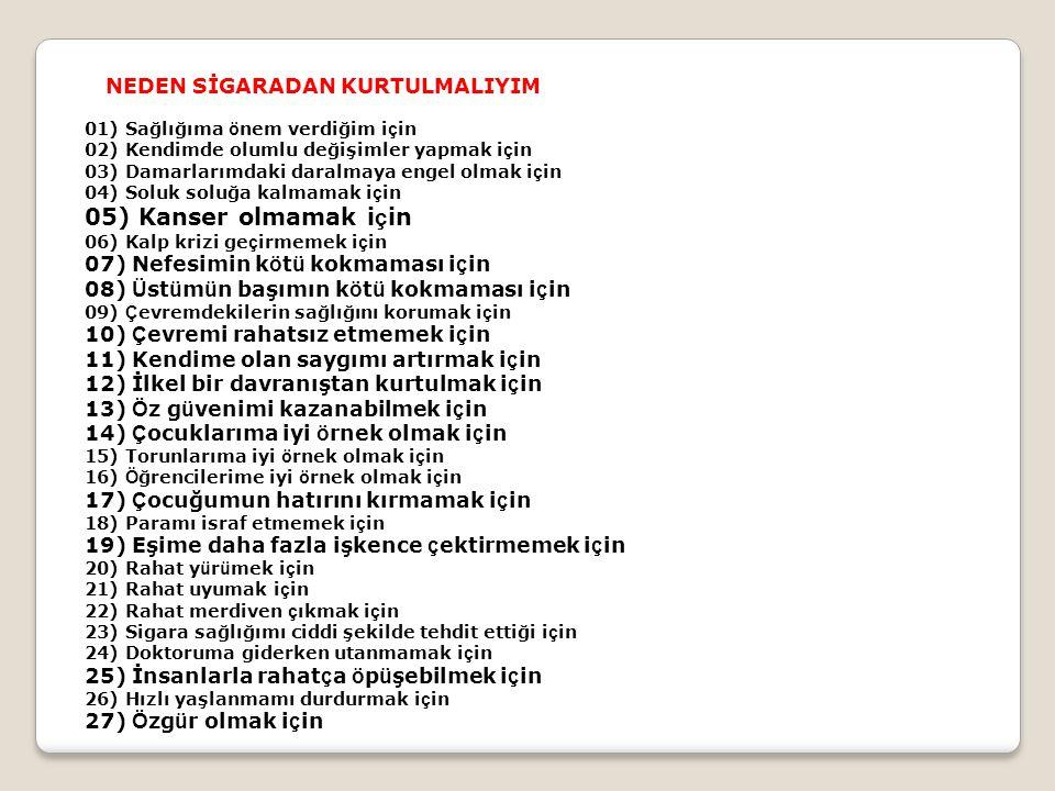 • Son Sigaranızdan...• • 20DakikaSonra: Kan basıncınız düzelir.
