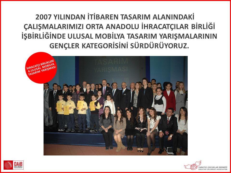 2007 YILINDAN İTİBAREN TASARIM ALANINDAKİ ÇALIŞMALARIMIZI ORTA ANADOLU İHRACATÇILAR BİRLİĞİ İŞBİRLİĞİNDE ULUSAL MOBİLYA TASARIM YARIŞMALARININ GENÇLER