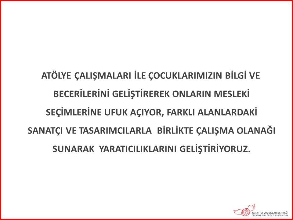 2011-2012 EĞİTİM ÖĞRETİM YILINDA İSTANBUL, İZMİR, SAMSUN VE EDİRNE'DE DÜZENLENEN ATÖLYE ÇALIŞMALARINA 40 ULUSLARARASI VE 18 TÜRK SANATÇI KATILDI.