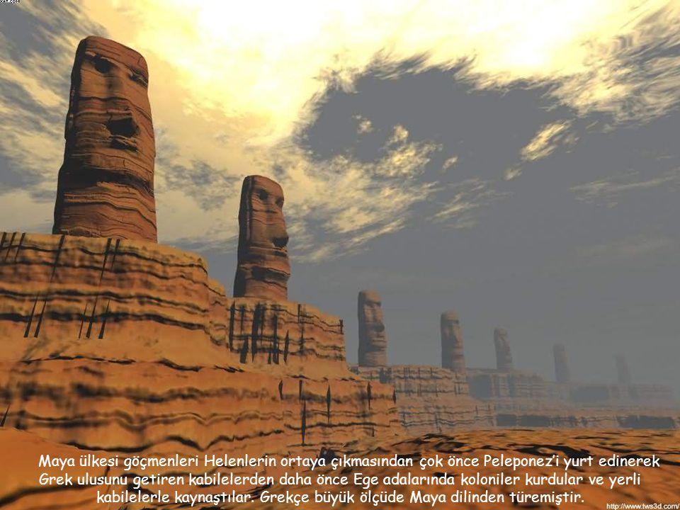 Okyanus ötesi topraklardan gelen koloniciler, Mısır, Ege, Mezopotamya bölgesine doğal olarak kendi uygarlıklarını da taşımışlardır. Maya kelimesi aslı
