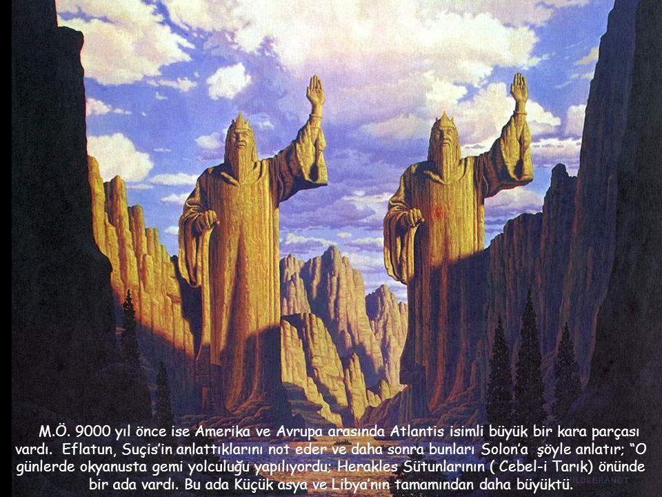 Eflatun, M.Ö. Yaklaşık 400.yy da Mısırı ziyaret etmişti. Burada Sais'in rahibi Suçis ile görüşmeler yaptı. Suçis, Eflatun'a Mısır'a ilk kolonistlerin