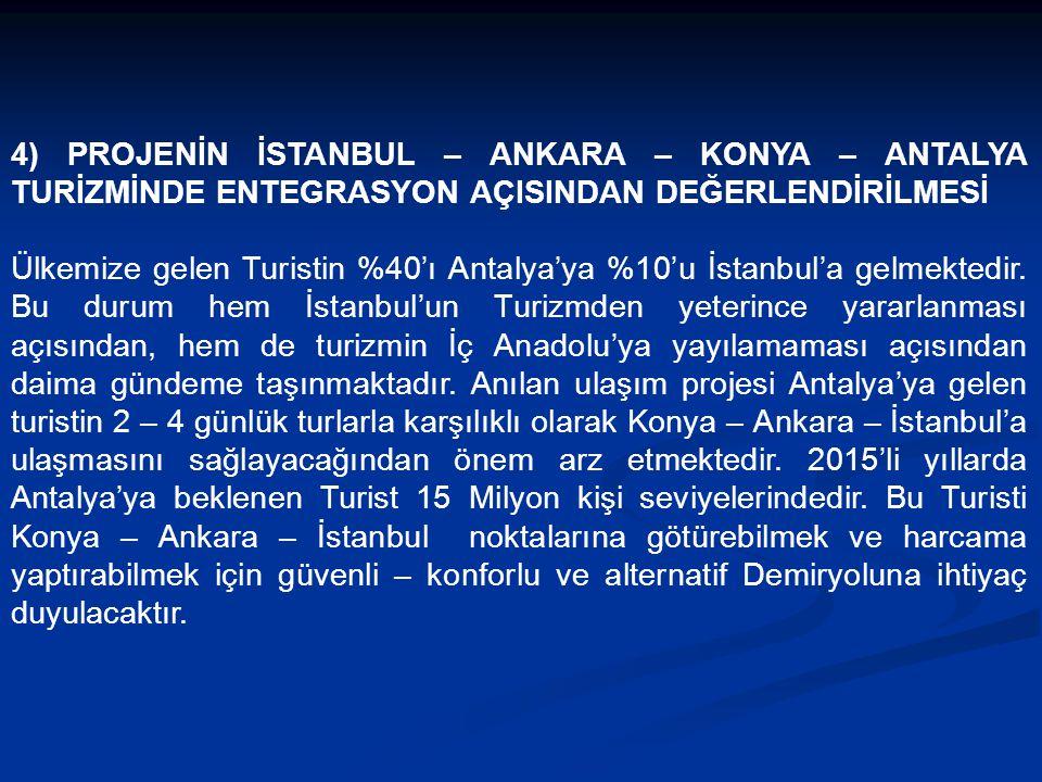 3.3) Liman ve Diğer Yük Taşımacılığı Açısından Antalya Limanı Mersin ile İzmir arasında Ülkemizin Anadolu'yla bağlantılı modern tek limanıdır. 4 milyo