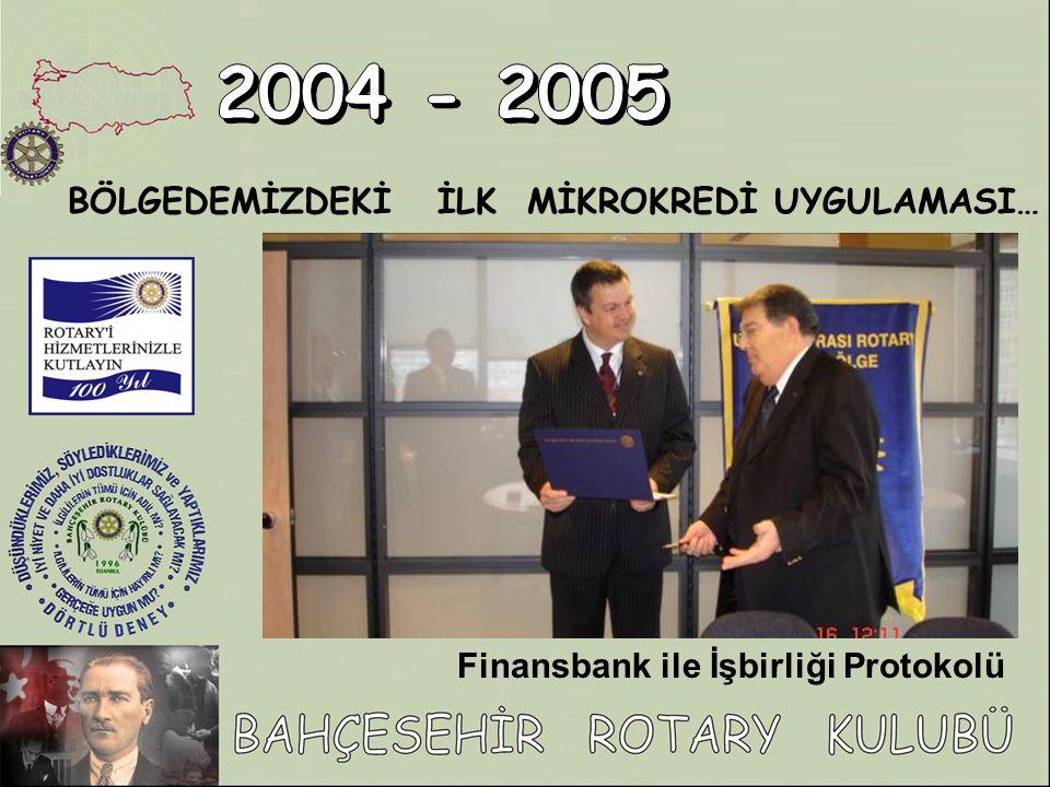Finansbank ile İşbirliği Protokolü BÖLGEDEMİZDEKİ İLK MİKROKREDİ UYGULAMASI…