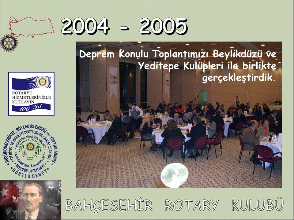 Deprem Konulu Toplantımızı Beylikdüzü ve Yeditepe Kulüpleri ile birlikte gerçekleştirdik.