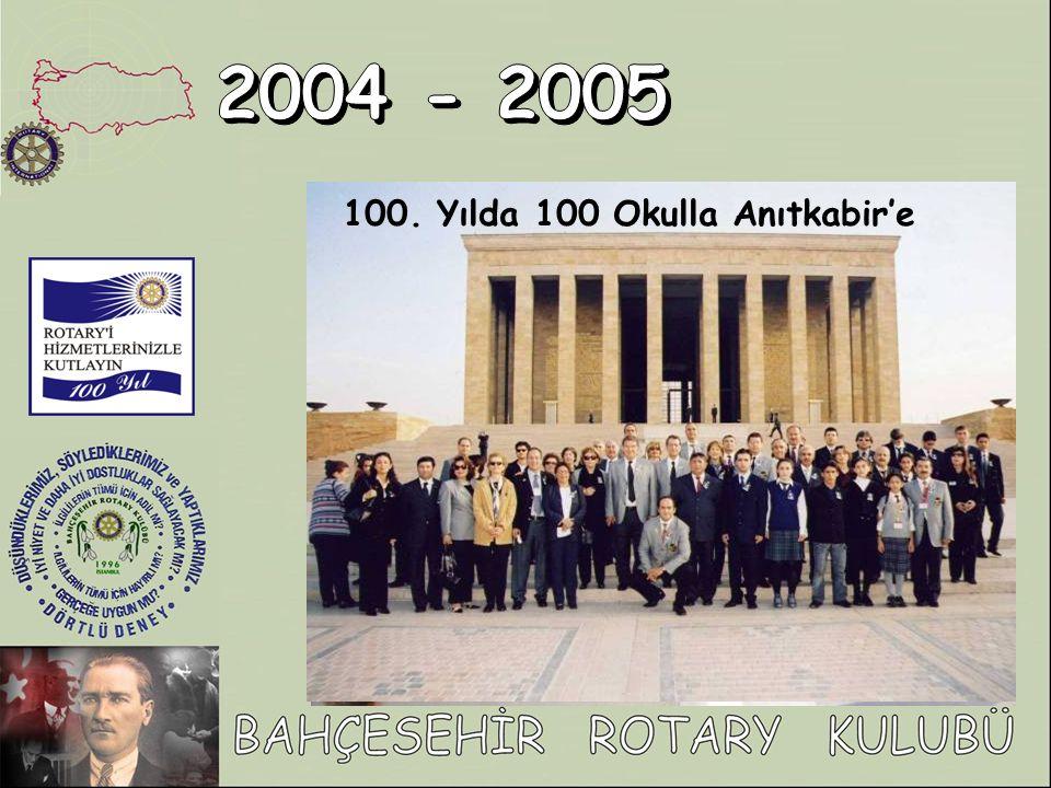 100. Yılda 100 Okulla Anıtkabir'e projesine bölgemizden iki okulun katılmasını sağladık.