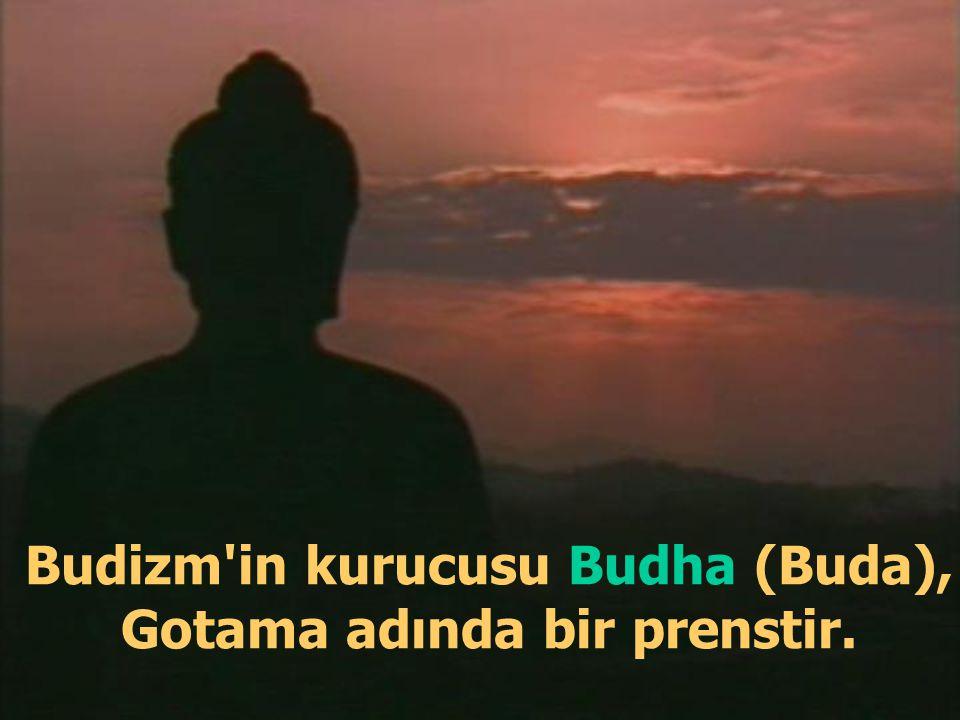 Tapınaklarına giren Budistler Buda'nın heykelinin önünde eğilerek secdeye varırlar...