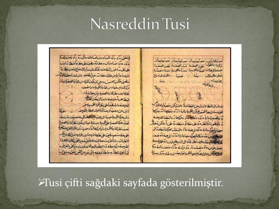  Tusi çifti sağdaki sayfada gösterilmiştir.