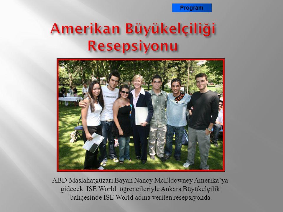 ABD Ankara Büyükelçiliği Elizabeth McKey Basın ve Kültür İşleri Konsolosu Program