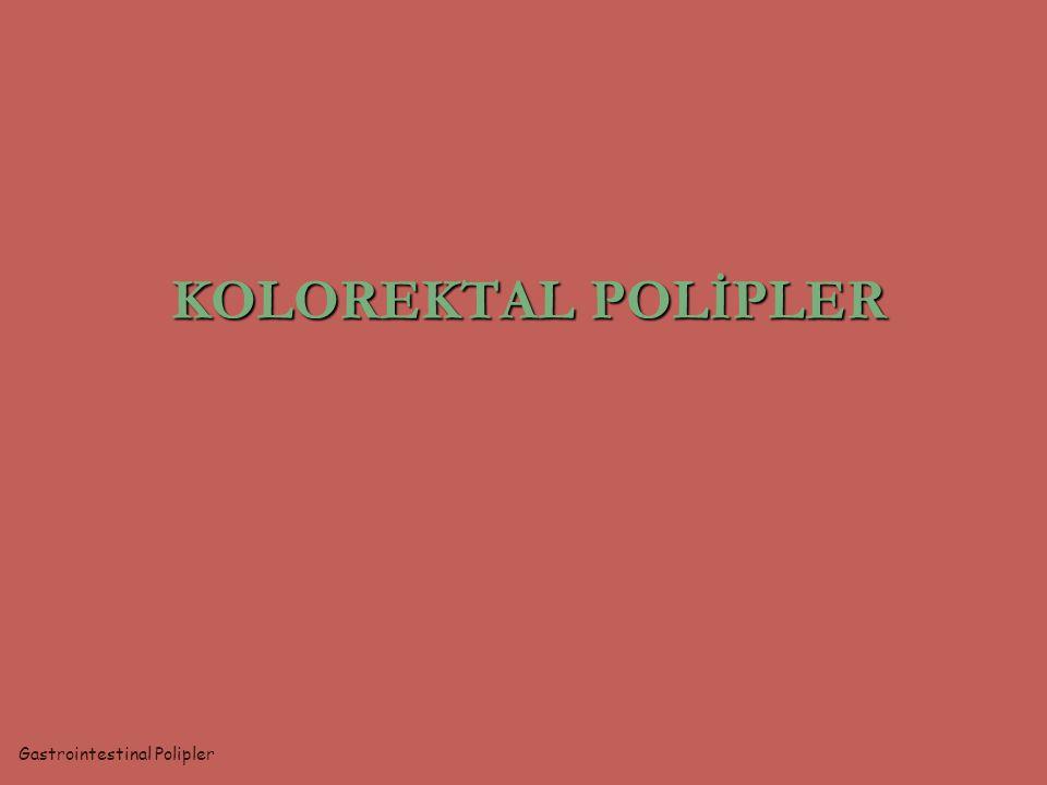 gastrointestinal poliplerin en sık görüldüğü yer dokunun lümen doğru çıkıntı gösteren kitleleri saplı -sapsız (sesil) doğumsal - edinsel benign - malign mukozal – submukozal - musküler histolojik tanı yoksa polip makroskopik ifade Gastrointestinal Polipler