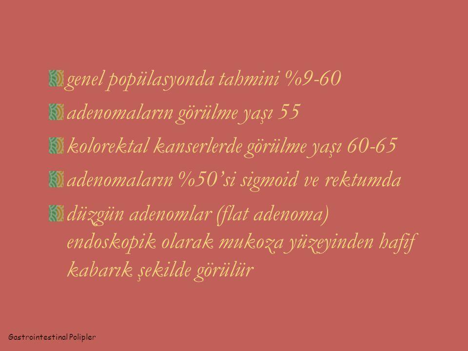 HEREDİTER POLİPOZİS SENDROMLARI Gastrointestinal Polipler