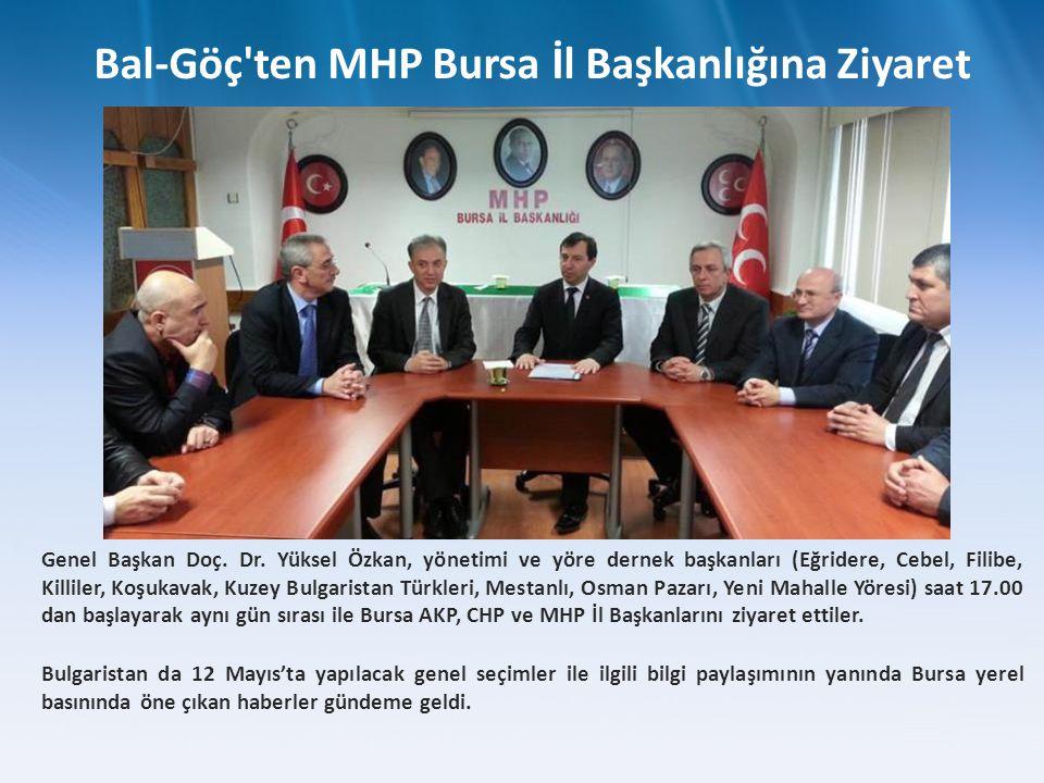 Genel Başkan Doç. Dr. Yüksel Özkan, yönetimi ve yöre dernek başkanları (Eğridere, Cebel, Filibe, Killiler, Koşukavak, Kuzey Bulgaristan Türkleri, Mest