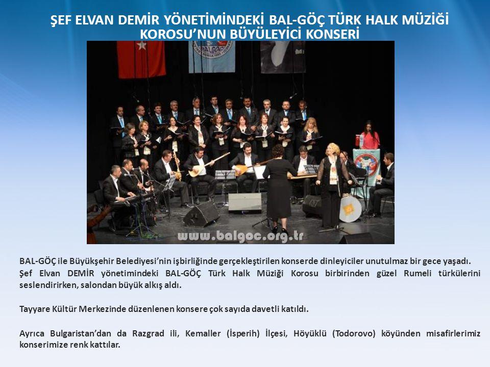 BAL-GÖÇ ile Büyükşehir Belediyesi'nin işbirliğinde gerçekleştirilen konserde dinleyiciler unutulmaz bir gece yaşadı. Şef Elvan DEMİR yönetimindeki BAL