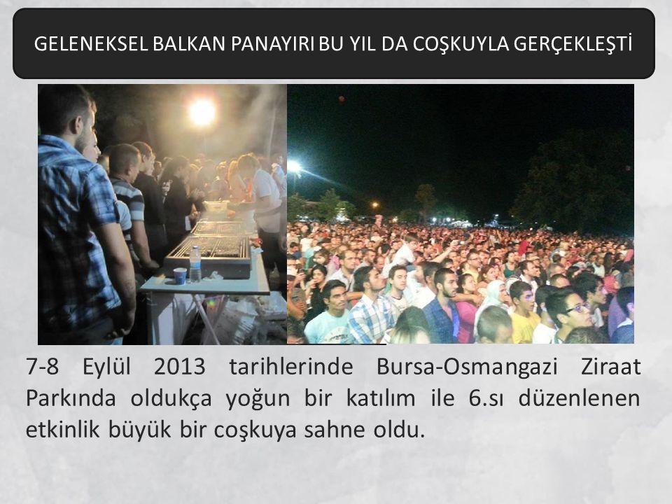 7-8 Eylül 2013 tarihlerinde Bursa-Osmangazi Ziraat Parkında oldukça yoğun bir katılım ile 6.sı düzenlenen etkinlik büyük bir coşkuya sahne oldu.