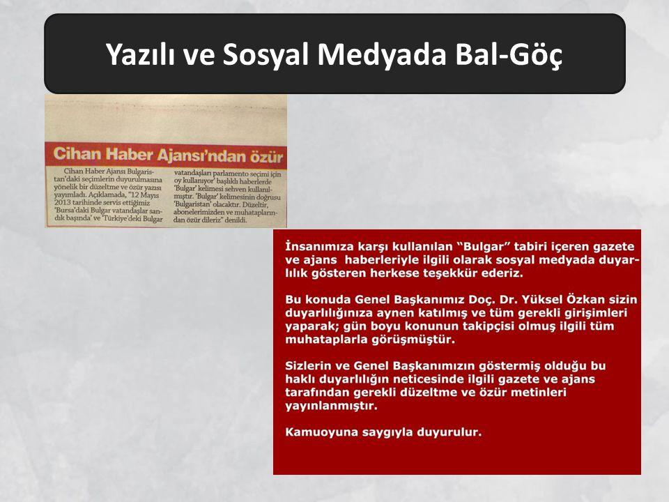 Yazılı ve Sosyal Medyada Bal-Göç